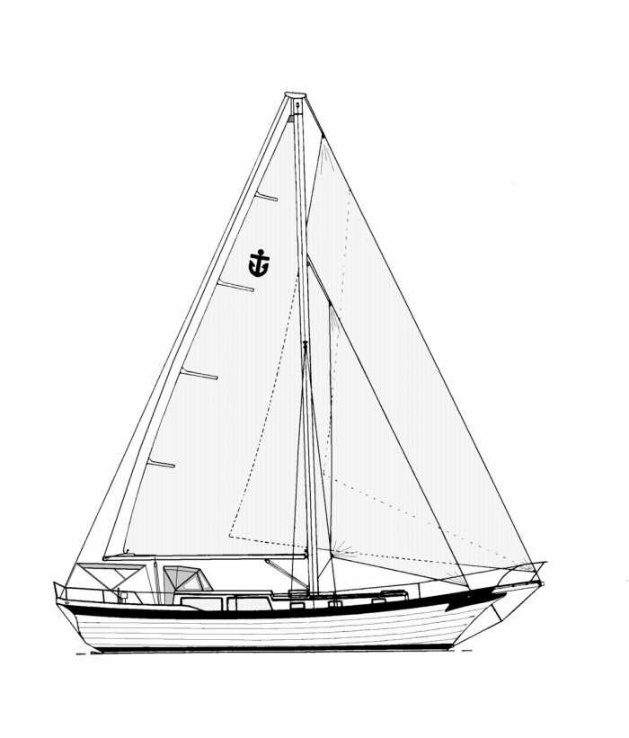 Line Drawing Yacht : Yacht line drawing