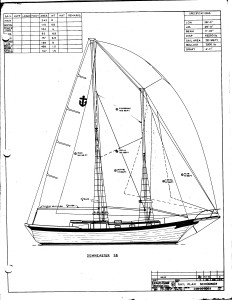 DE 38 Schooner Rig Drawing Large