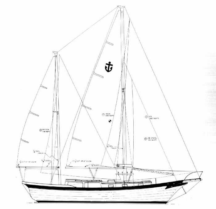 Line Drawing Yacht : De line drawings « downeaster yachts