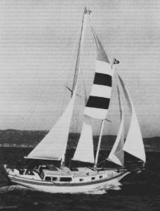 DE38 Schooner under sail