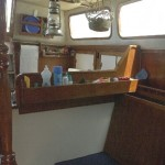 Old gimballed box relocated for'd  of galley