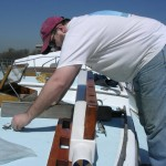 Attaching the anchor platform to the new bowsprit