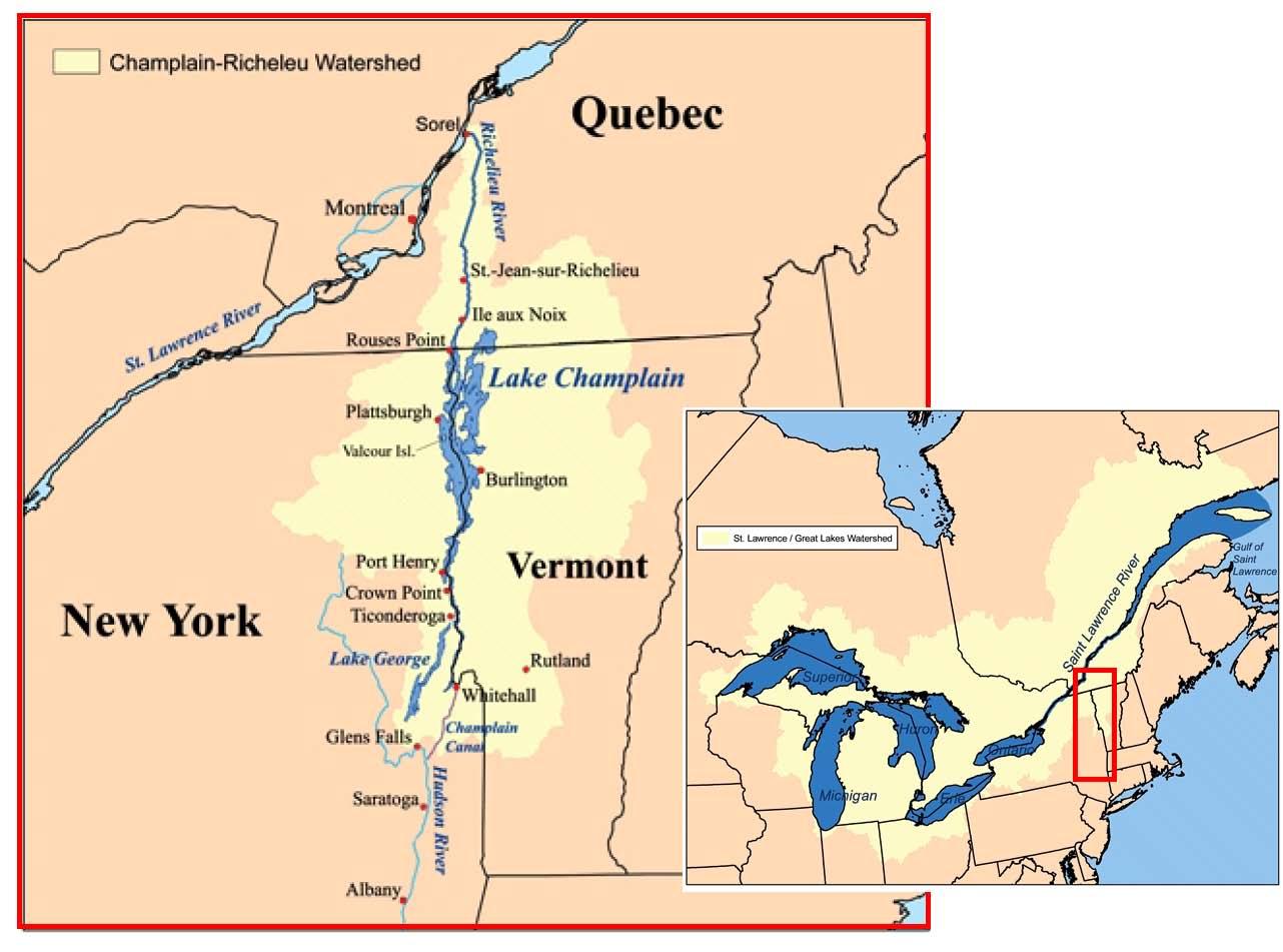 Sv Gracie Emmett Lake Champlain Corridor And Cruising Ground - Us map lake champlain