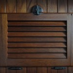 Wood detail on cabinets port &amp;stbd.