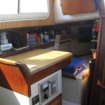 chart table and pilot berth on starboard
