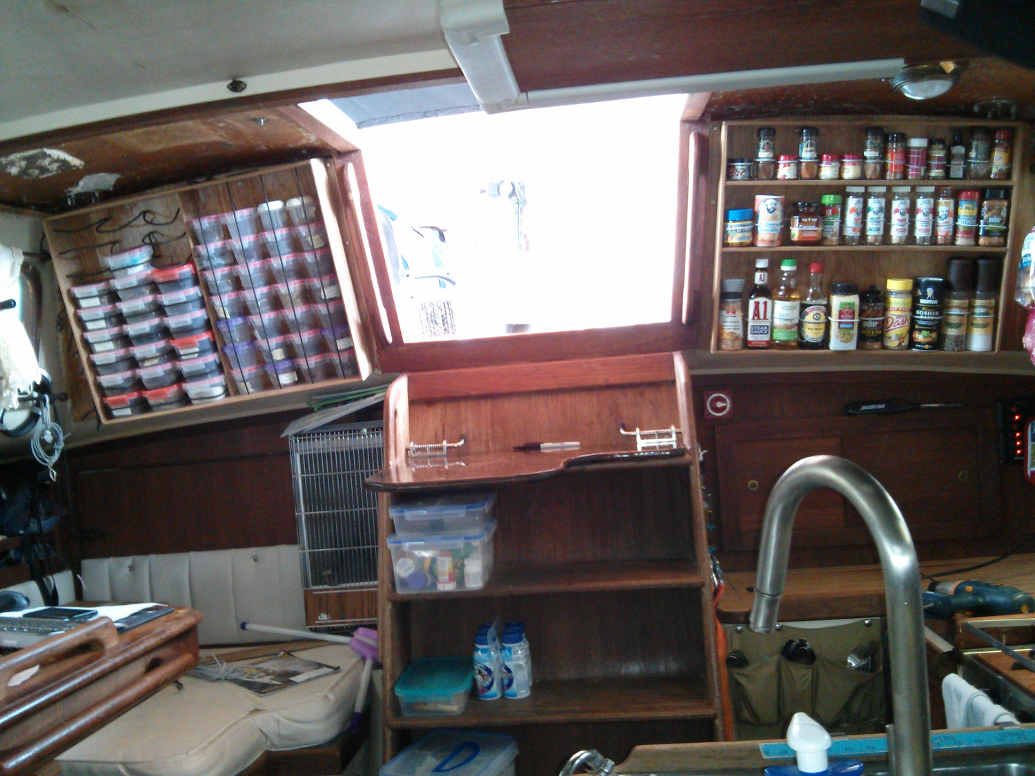 The Ergonomics Of Living On A Boat Spice And Tea Racks