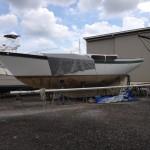 Finally, no more tarp on half of the boat!